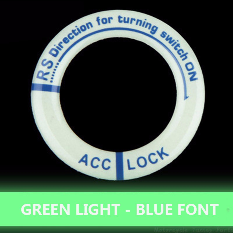 Image 5 - Luminous Key Ring Decor Sticker Auto Accessories Motorcycle Lgnition Switch Cover Auto Interior Protective Sticker Car Styling-in Car Stickers from Automobiles & Motorcycles