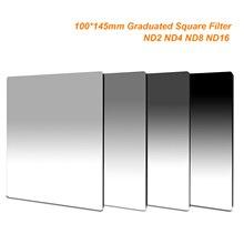 100mm x 145mm 졸업 된 ND2 ND4 ND8 ND16 중립 밀도 100*145mm Lee Cokin Z 시리즈 용 스퀘어 필터