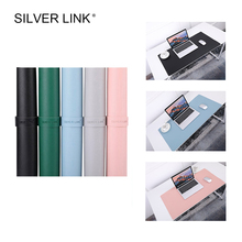 SILVER LINK PU Mouse Pad Large Size Office Desk Table Mat Leather Gaming Mousepad Gamer Accessories Multicolor