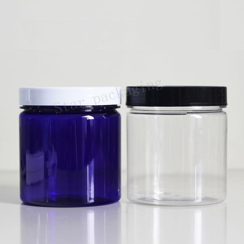 16 pcs 500 ml 빈 투명 라운드 플라스틱 디스플레이 냄비 분명 화장품 크림 항아리 밤 컨테이너 미니 샘플 컨테이너 포장-에서리필 병부터 미용 & 건강 의  그룹 1