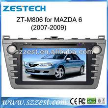 ZESTECH 2012 New arrival! In black panel NEW Mazda 6 Car DVD GPS Player