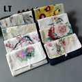 2017 Women Jute China Tradition Zen Wallet Burlap Patchwork Floral Printing Passport Art Painting Elegant Cheongsam Clutch Bag