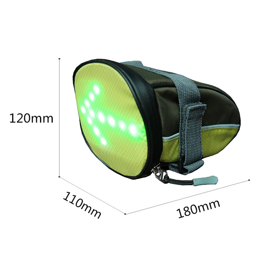 Bicycle Bike Tail LED Warning Signal Light Bag LED Safety Rear Bags Remote wireless Control for Night Riding high quality