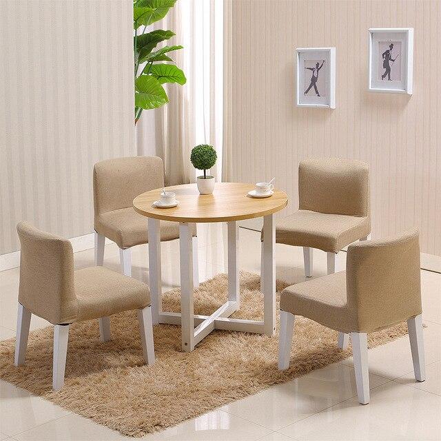 Café mesas Muebles sólido madera + acero mesas redondas de café ...