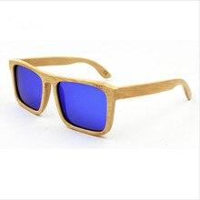 New Men/Women fashion Handmade Bamboo Polarized Sunglasses Extremely Light Eyewear Retro Colorful Reflective lens Eyeglasses
