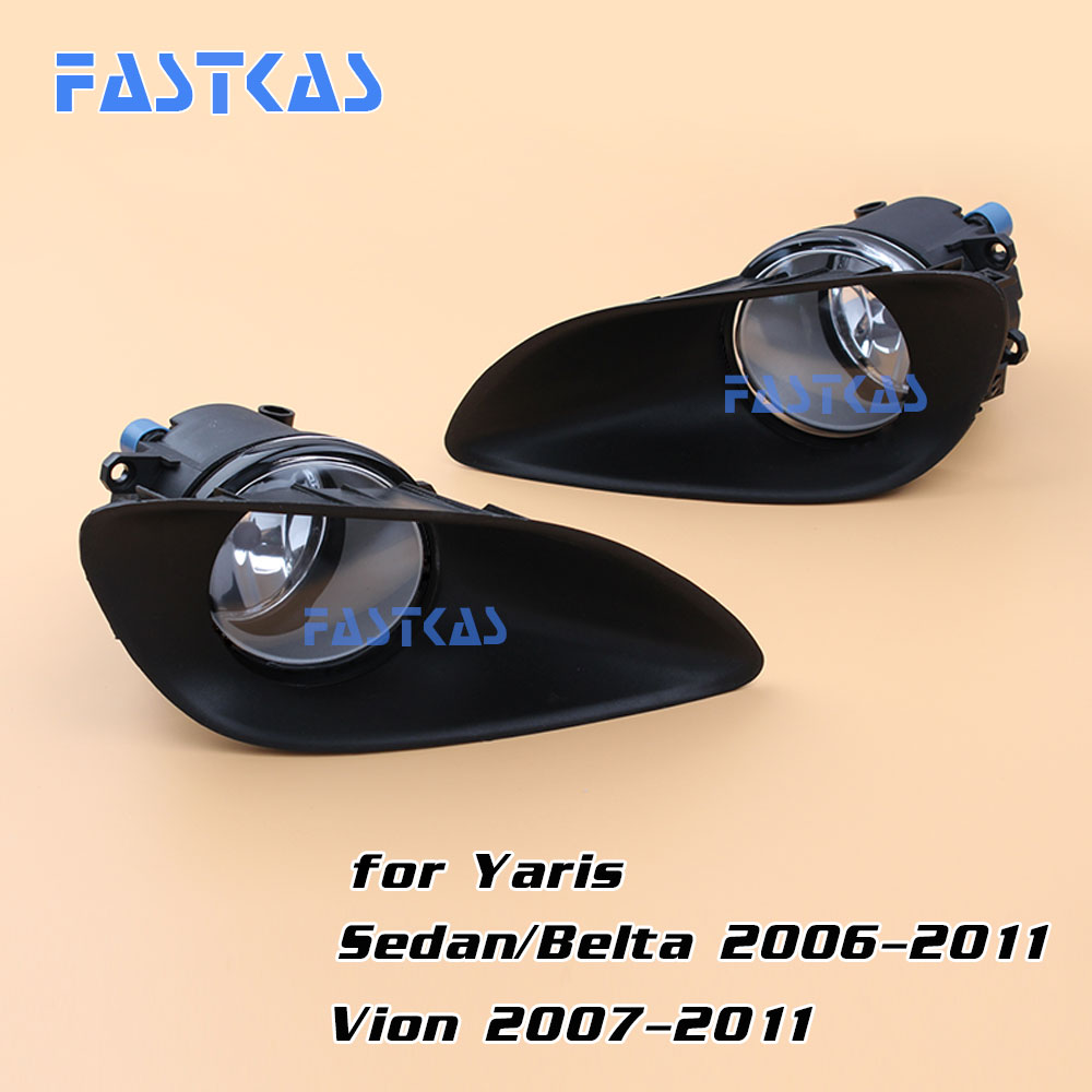цены 12v 55w Car Fog Light for Toyota Yaris Sedan/Belta 2006-2011 Vion 2007-2011 Left & Right Fog Lamp with Switch Harness Covers