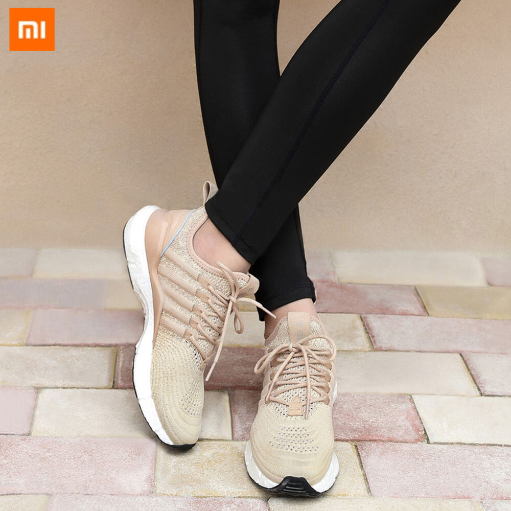 (Women)Xiaomi FREETIE Sports Shoes Light Ventilate Elastic Knitting Shoes Breathable Refreshing City Running Sneaker