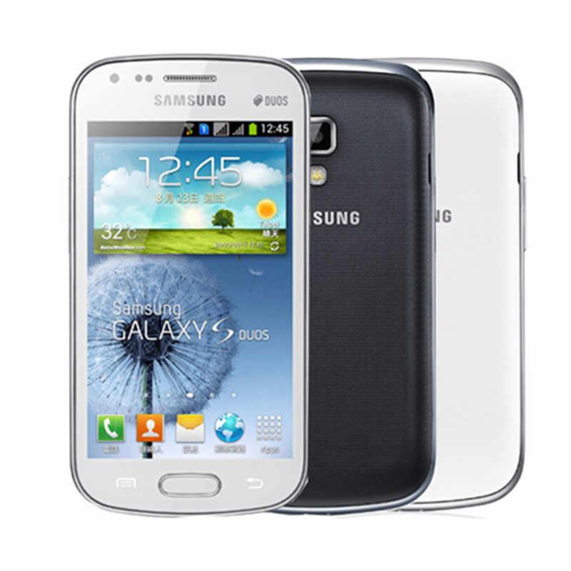 Оригинальный разблокированный samsung Galaxy S duos S7562 с двумя сим-картами 3g Wi-Fi, Bluetooth, Gps, 4,0 ''5MP Камера мобильный телефон Восстановленное