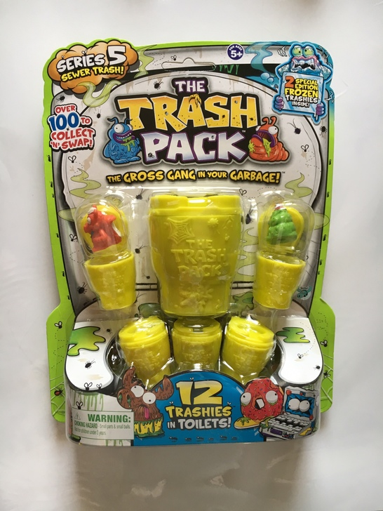 original Trash Pack Series #5  & Series # 3,  12 Figures in Toilets and in Cans Anime Cartoon figure Toys Child Toys gift handi bag super value pack trash bags 30gal 69mil 36 x 29 5 black 60 box
