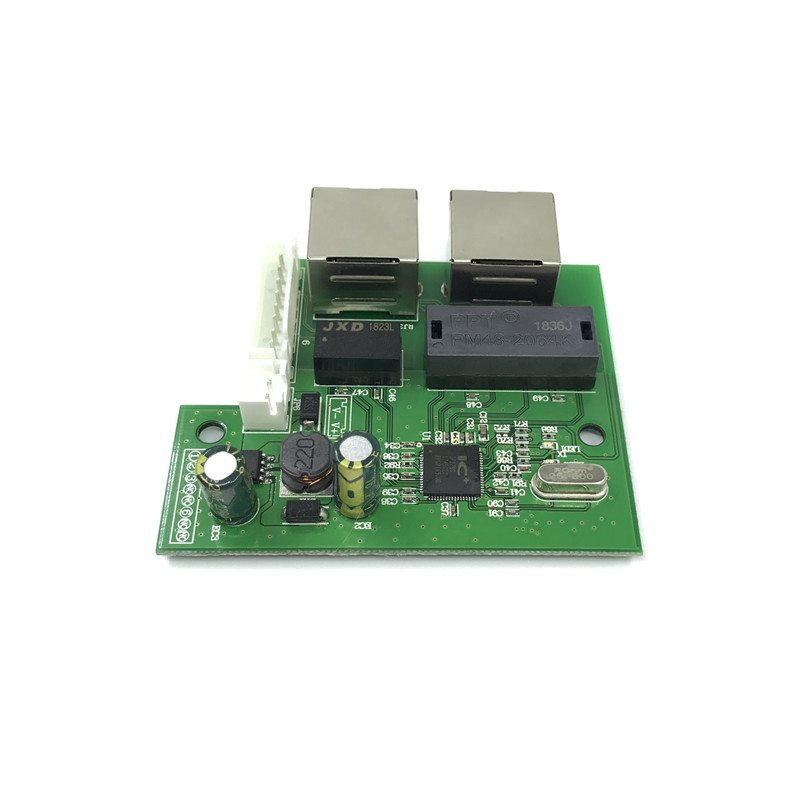 Image 3 - OEM factory direct mini fast 10/100mbps 2 port ethernet network lan hub switch board two layer pcb 2 rj45 1*8pin head port-in Network Switches from Computer & Office