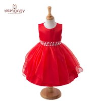 MUABABY 2 13T Big Girls Princess Party Dress Sleeveless Diamond Kids Summer Sundress Children Girl Pageant