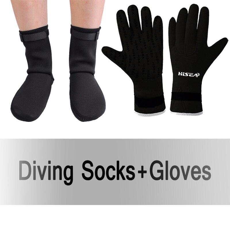 3mm Neoprene Diving Socks Gloves Non-slip Swimming Beach Feet Protection Warm Foot Socks Glove Surfing Underwater Dive Accessory