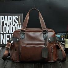 Mens Bag Trend Retro Documents Computer Handbag Recreational Single Shoulder Crossbody Bags For Man