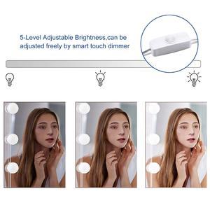 Image 4 - ハリウッドスタイル Led ミラーライトキット 10/12 LED 電球 7000 k 調光対応昼白色のための柔軟なメイク化粧テーブル