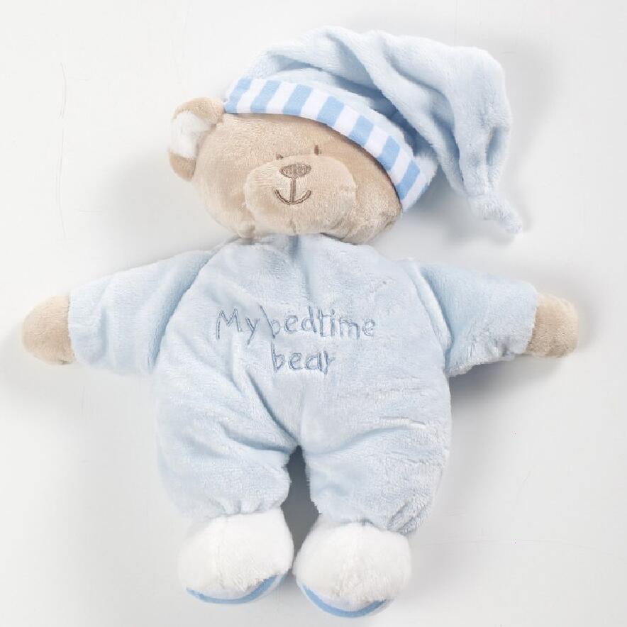 Детские погремушки Stuffe игрушка одежда на Рождество подарки для девочек и мальчиков мягкая плюшевая игрушка медведь Детские успокоить пода...