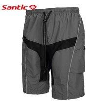Santic Desmontable Cojín ropa deportiva de los hombres Acolchado Ciclismo MTB Downhill Shorts Profesional maillot invierno mtb C05018