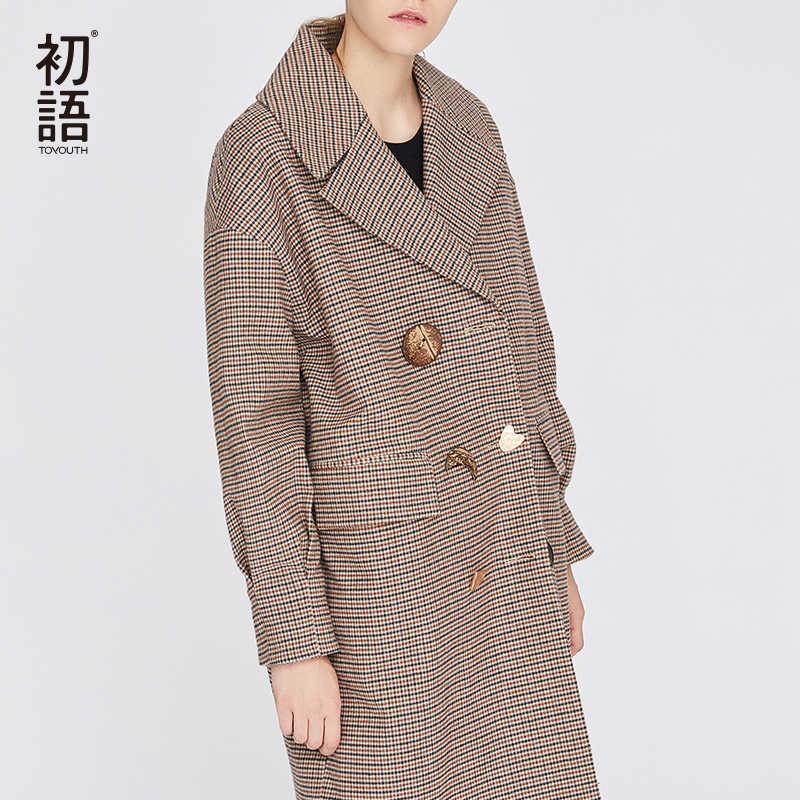 Toyouth mujeres lana mezcla abrigos coreano Camel invierno abrigo Mujer abrigo largo cálido señoras Casual elegante abrigos 2019 Mujer Outwear