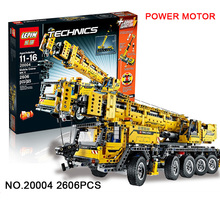 2016 New LEPIN 20004 2606Pcs Technics Mobile Crane MK II Model Building Kits Minifigure Blocks Bricks Toys Compatible With 42009