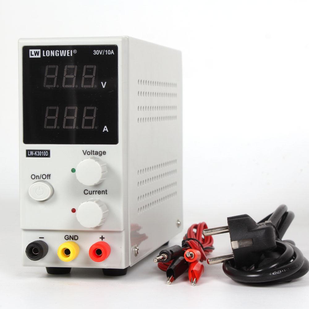 New 30V 10A LED Display Adjustable Switching Regulator DC Power Supply LW-K3010D Laptop Repair Rework 110v - 220v