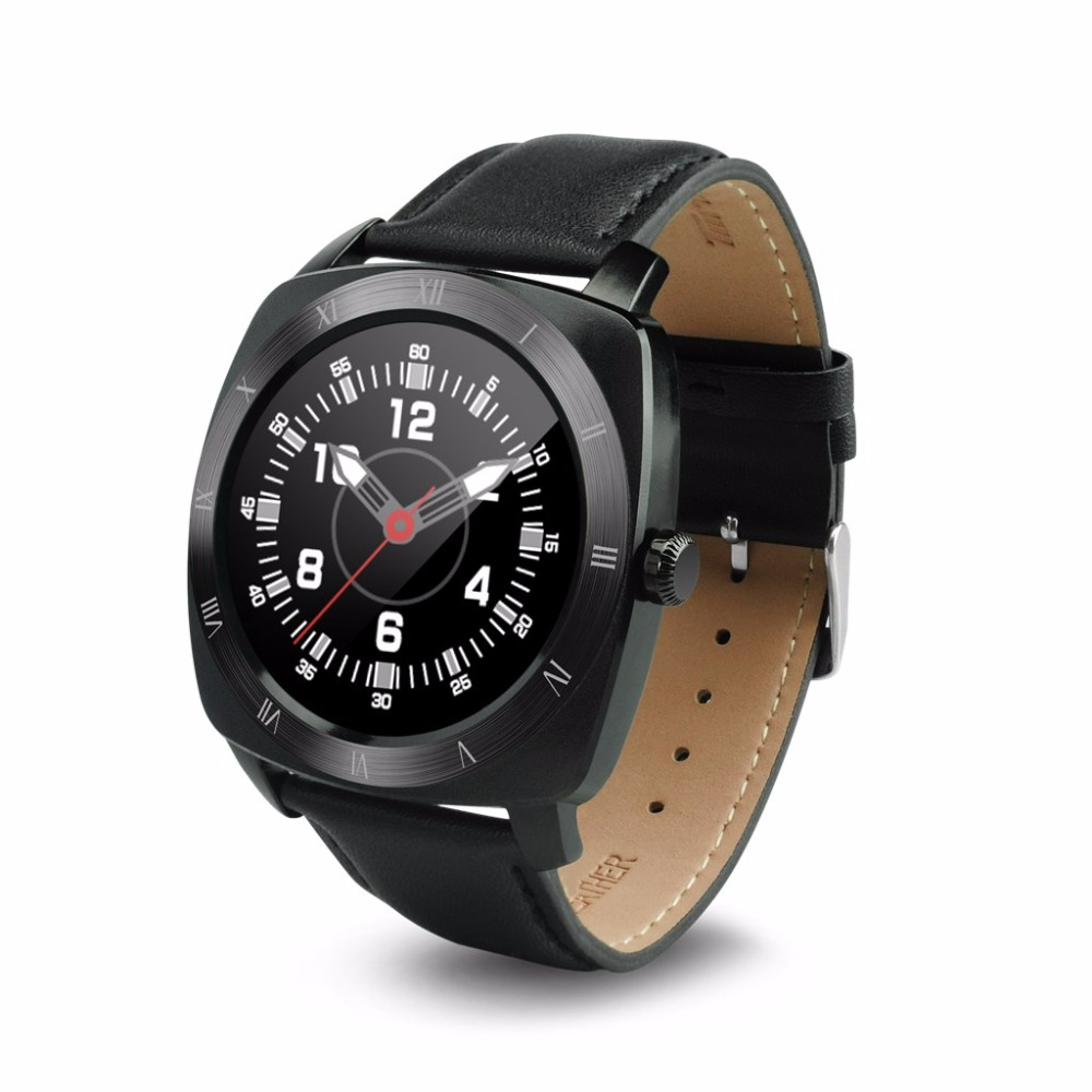Smart Watch Call Reminder Round Display Leather Waterproof ...