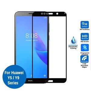 Image 1 - Vetro temperato Per Huawei Y5 Lite Copertura Completa di Protezione di Vetro Su Y 5 Y5 prime Y5lite 5lite Y9 2018 2019 Y92019 Protezione Dello Schermo