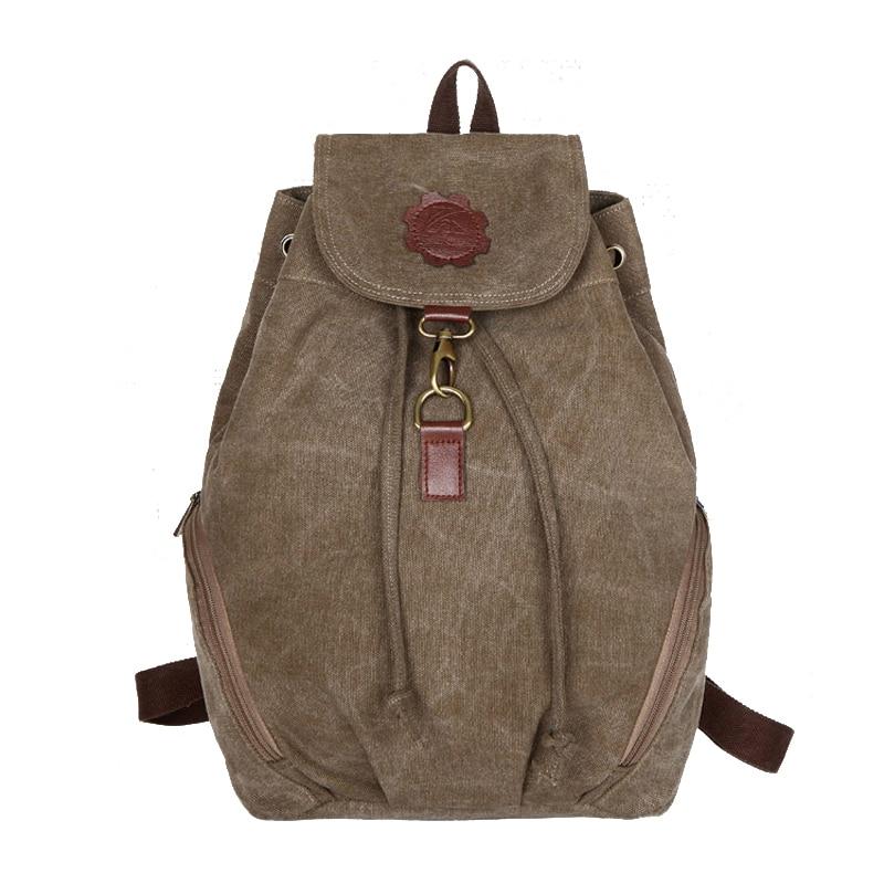 2017 Women s Backpack Fashion School Backpacks for Teenage Girls Canvas Vintage Backpack Korean Style