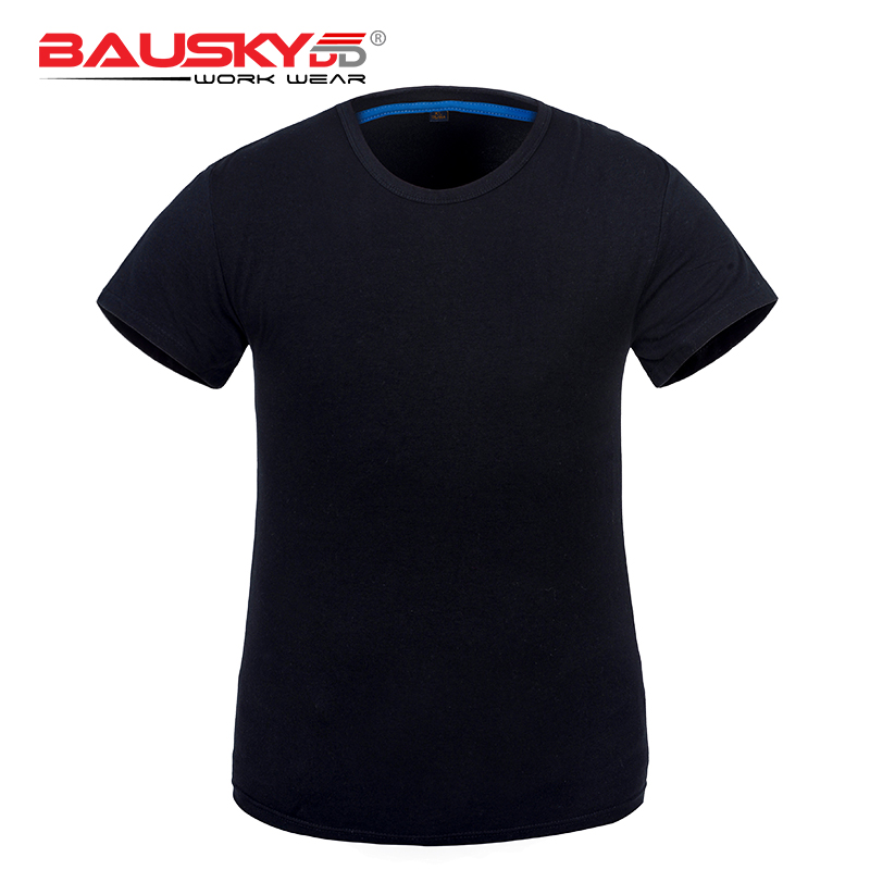 New arrival grey black blue workwear shirt working t shirts summer with short sleeves ice cotton fabric black lace details round neck short sleeves t shirts