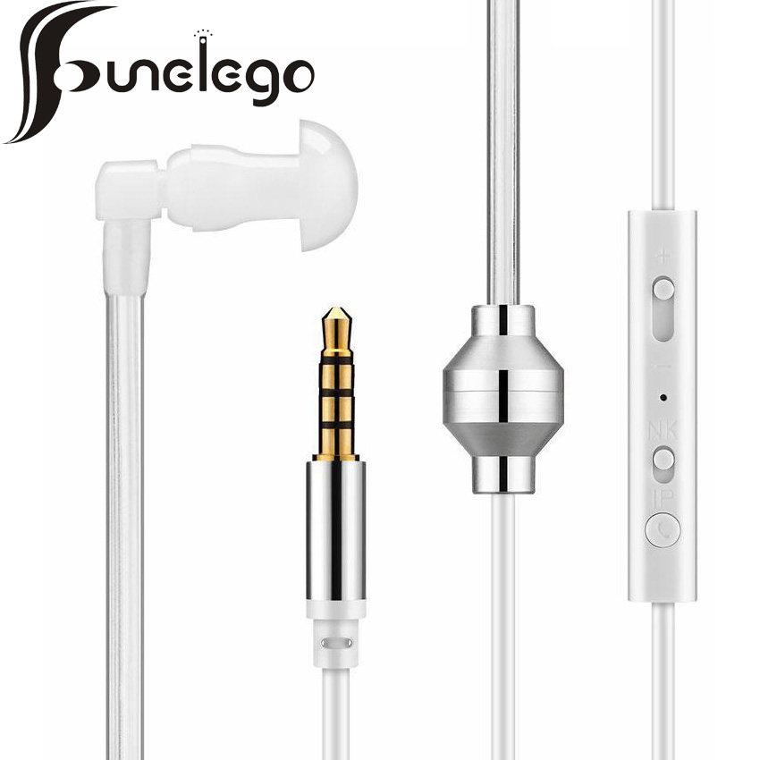 Funelego 3.5mm Anti-radiation Security Earphone Spring Earpiece flexible Monaural Air Tube Stereo Headset for Xiaomi iPhone Sony