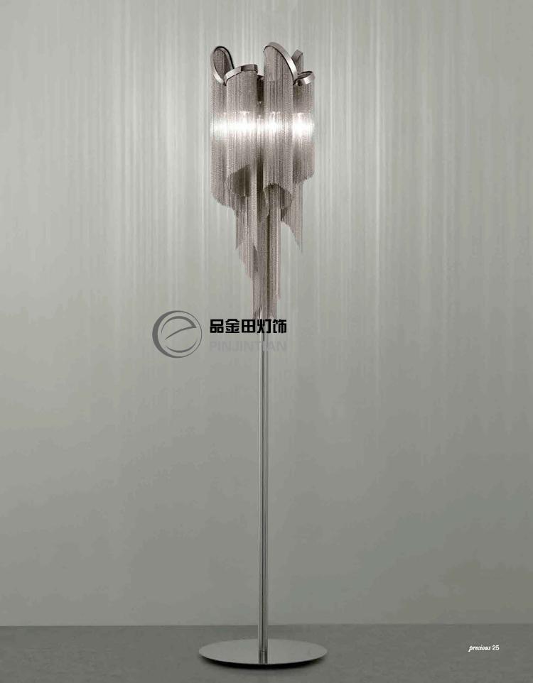 Creative Tassel Floor Lamps Bedroom Living Room Hotel Luxury Unique Silver  Aluminum Silver Floor Lights Za FG786