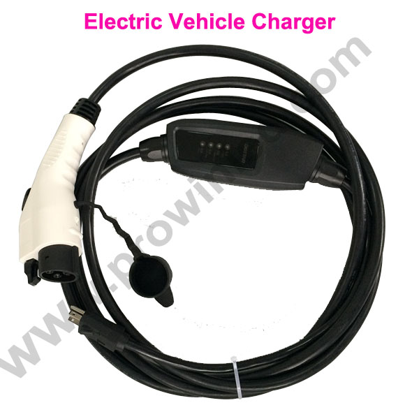 7 6m 24 Feet Cable Sae J1772 16a Type 1 Ev Charger Evse Nissan Leaf Level 2 Electric Vehicle Charging Station
