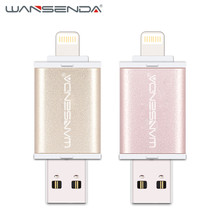 Original Wansenda-i400 usb OTG usb flash drive usb 2.0 pen drive 16gb 32gb 64gb usb stick flash drive Pendrive for iPhone/iPad