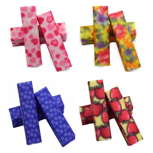 Nails Polishing Block Mix Color 10pcs Sanding Sponge Nail File ...