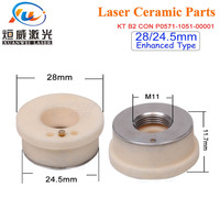 3pcs Enhanced Type P0571 1051 00001 Precitec Ceramic Laser Nozzle Holder Kt B2ins Con Ceramic Part Yellow Color Type
