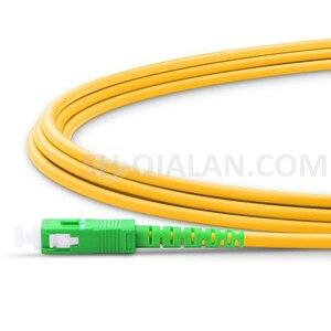 Image 4 - Optyczne patchcordu światłowodowego LC do SC APC światłowodowe kabel Simplex 2.0mm pcv światłowód jednomodowy kabel krosowy APC jumper światłowodowy