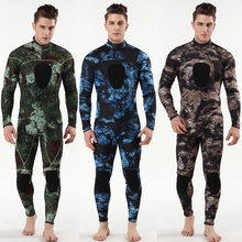 Diving suit neoprene 3mm men pesca diving spearfishing wetsuit Camouflage surf snorkel swimsuit Split Suits combinaison(China)