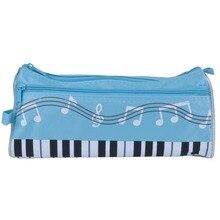 Многофункциональная Студенческая коробка для канцелярских принадлежностей Чехол для карандашей с изображением клавиатуры пианино