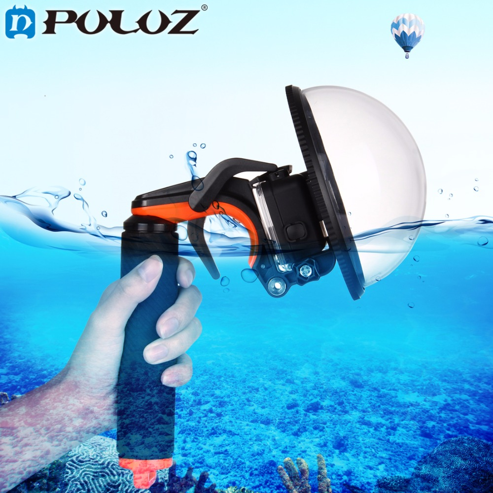PULUZ For GoPro Accessories Shutter Stabilizer Section Pistol Trigger Floating Hand Grip Tripod +Dome Port Cover For GoPro Hero5 m s3 rubber handle grip stabilizer mount with tripod for gopro hero3 2 1