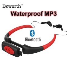 Bluetooth Reproductor de Música MP3 Resistente Al agua IPX8 Subacuática Natación Buceo Deportes Banda Para El Cuello Auriculares Estéreo de Auriculares de Audio