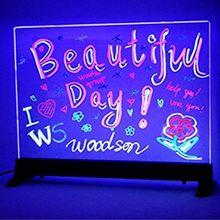 Создай свой собственный мигающий, с подсветкой со стирающимися чернилами неоновый светодиодный меню сообщения знак прозрачный акриловый Стекло письменная доска пивной бар неоновая вывеска для организаций и магазинов цветная(RGB