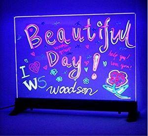design your own Custom Flashing Illuminated Erasable Neon LED Message Menu Sign Clear Glass Writing Board beer bar neon sign RGB(China)