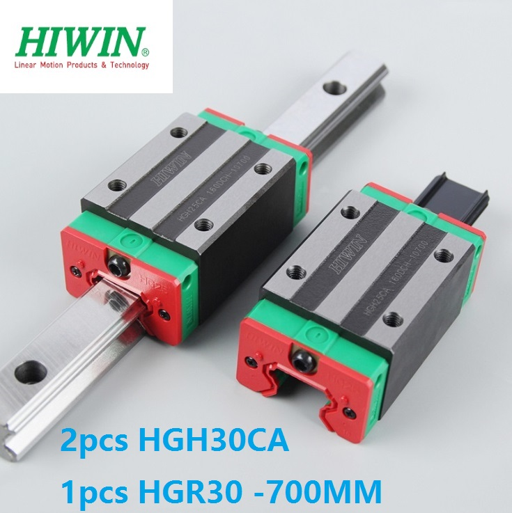 1pcs 100% original Hiwin linear guide linear rail HGR30 -L 700mm + 2pcs HGH30CA narrow block for cnc  1pcs 100% original Hiwin linear guide linear rail HGR30 -L 700mm + 2pcs HGH30CA narrow block for cnc
