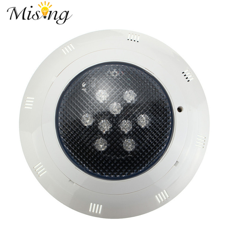 ФОТО Waterproof RGB LED Underwater Light For Pool Swimming Diving Pond Retro Fit-Remote Control LED Outdoor Light 9W AC12-24V