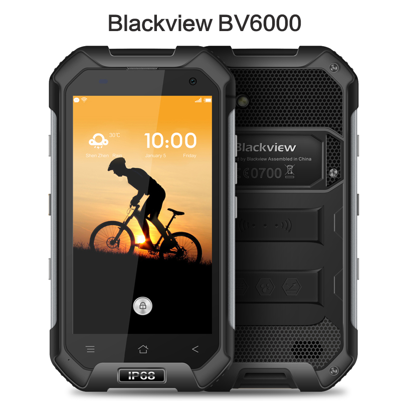 Original Blackview BV6000 4G LTE Waterproof MTK6755 4 7 HD Octa Core Android 6 0 Mobile