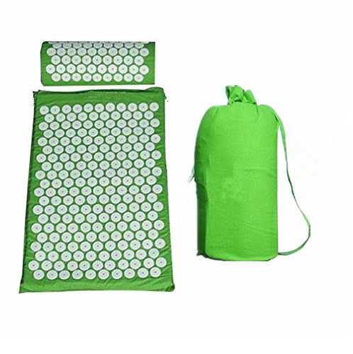 Acupressure Mat Head Neck Back Foot Massager With Pillow Yoga Massage Mat Antistress Acupuncture Needle Massage Cushion acupressure yoga body massage mat