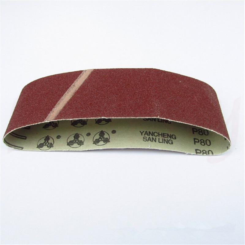 3pcs Set Sanding Belts 75x533 Mm Mixed Grade 40 60 80 120 Grit Polishing Sander