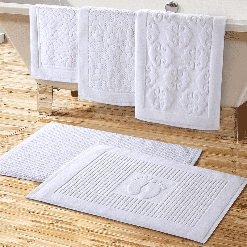 Hotel Mats Bathroom Towels Thick Absorbent Doormat Cotton
