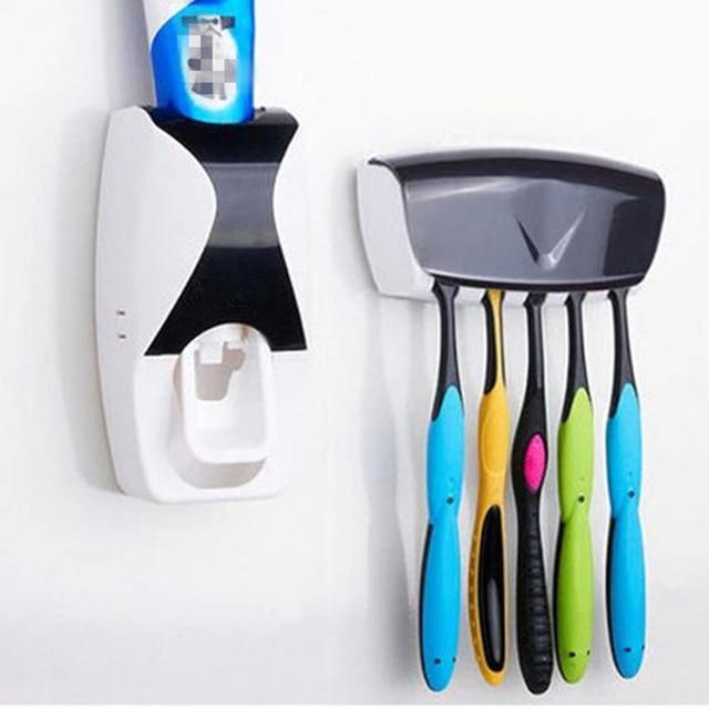 Di NUOVO Modo di Montaggio A Parete Distributore Automatico di Dentifricio Set S