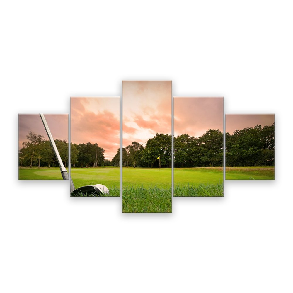 Canvas Wall Art Golf Course Painting Sunset Landscape Painting Canvas Art Home Decor 5 Panel Wall Artwork HD Print Drop ShippingCanvas Wall Art Golf Course Painting Sunset Landscape Painting Canvas Art Home Decor 5 Panel Wall Artwork HD Print Drop Shipping