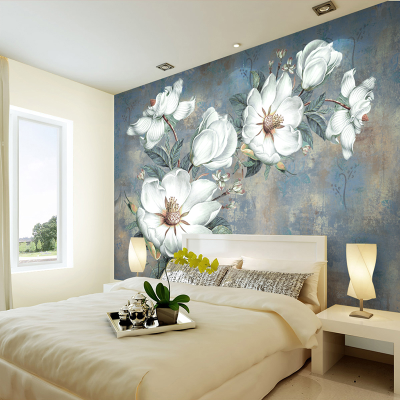 Custom Wallpaper Murals European Style Retro Art Abstract Oil Painting  Flowers Wall Mural Painting Living Room Bedroom Wallpaper In Wallpapers  From Home ...