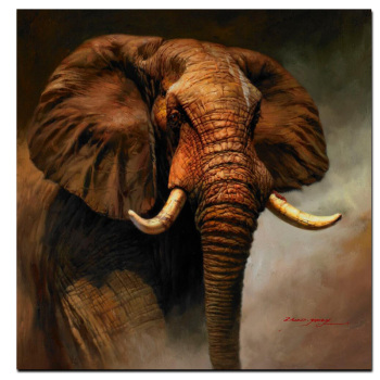 African Elephant Wall Art Oil Painting Printed on Canvas 2